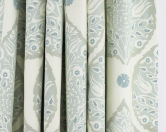 Galbraith & Paul Lotus Custom Drapes (shown in Mineral-comes in many colors)