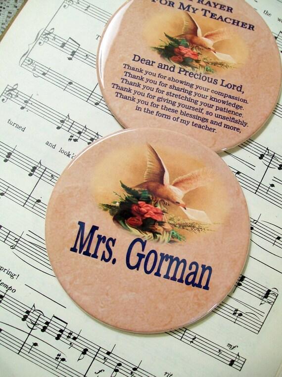 Teacher Gifts, Personalized Teacher Magnet Gift Set of 2, Prayer Gifts for Teachers, Principals, Counselors Thank You Teacher