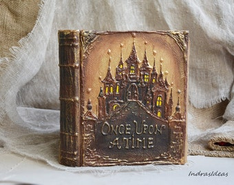 Fairytale wedding guest book, Personalized book, Once upon a time, vintage  wedding, Rustic wedding, Fairy Tale Guest Book