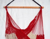 Hammock Chair - Red, Whit...