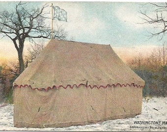 Washington's Marquee and Flag Washington's Official Headquarters Valley Forge 1911 by W. Herbert Burk
