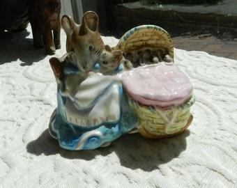 Vintage Authentic Beswick Beatrix Potter Figurine - Hunca Munca
