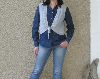 Vintage 90s Tom Tailor Cable Knit Sweater Vest size M-L