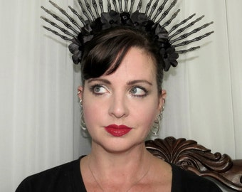 CROWN of DARKNESS  Evil Crown Style Headdress Black