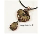 Petoskey Stone Jewelry / Petoskey Stone Necklace / Copper Jewelry / Wire Wrapped Pendant Necklace