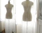 Bohemian White Lace Sheer Beach Coverup Wedding Dress Maxi Dress Long Sleeves Women's Kimono Robe Bridal Slip Gypsy Summer Love Shabby