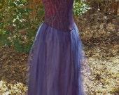 Gunne Sax Cocktail Dress, Dark Blue Metallic Bodice with Full-Skirt, Size 9/10, Jessica McClintock Prom Dress