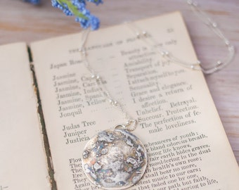 Soldered Full Moon Necklace