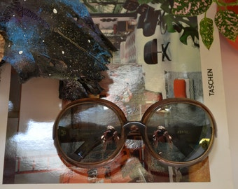 1960s Cool Ray 210 Verve Sunglasses, Round Oversized Vintage Sunglasses, Mod Space Age Glasses