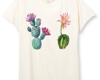 Womens Boho T-shirt, CACTUS Shirt, Tumblr Shirt, Southwestern clothing, Desert Shirt