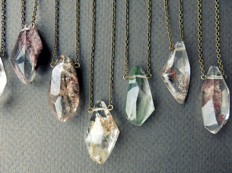 Garden Quartz Necklace Quartz Crystal Necklace Healing