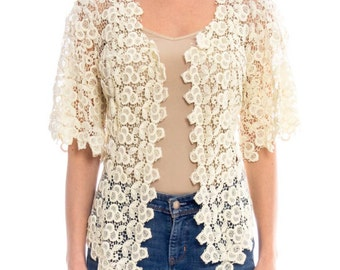 Victorian Lace Crochet Top Size: S/M