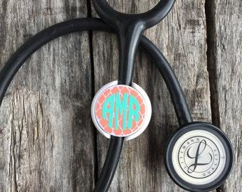 Stethoscope ID Tag, Stethoscope Name Tag, Monogram, Stethoscope Accessories