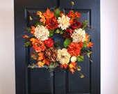 fall wreath fall wreaths for front door wreaths outdoor Thanksgiving decorations welcome rustic wedding front door wreaths