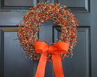 pip berry wreaths fall wreath berries wreath wreaths welcome weddings wreaths front door wreath fall decor Thanksgiving wreaths