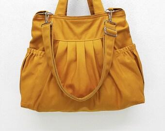Women bag Handbags Canvas Bag Diaper bags Shoulder bag Hobo bag Boho bag Tote Messenger bag Purse Everyday bag Mustard Judy2