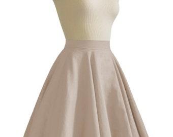 JULIETTE Taupe Rockabilly Swing Rock 'n Roll Skirt//Full Circle Taupe Skirt//Retro Mod 50s style Skirt//Party Skirt XXS-3X