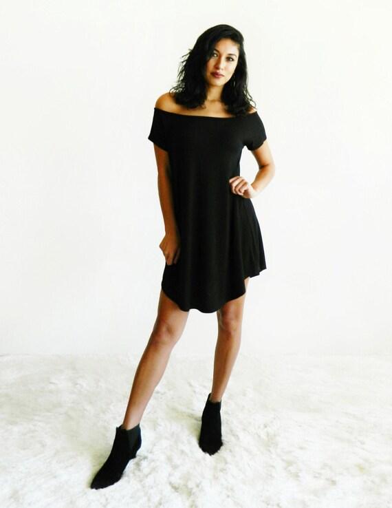 Darla Black Off The Shoulder Dress