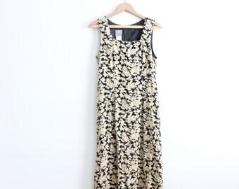 Black Floral 90s Maxi Dress