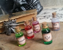 The Witcher Potion Necklaces - Magical potion necklaces - Vial potion bottles - Cork Vial pendant  - Fan art inspired by Geralt of Rivia