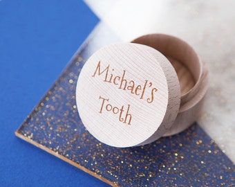 Personalised Tooth Box - My First Tooth - Tooth Fairy Box - Gift for Toddler - Tooth Holder - Tooth Fairy Pillow - Gift for Children