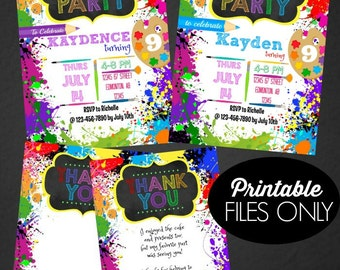 Art Party Invitation | Paint Party Invitation | Art Party | Paint Party | Printable Invitation | Birthday Invitation | Epic Parties by REVO