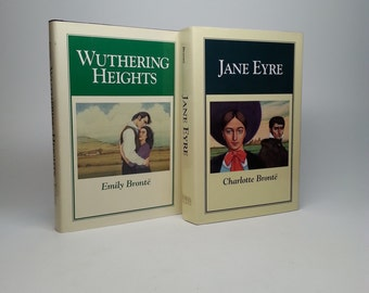 Jane Eyre and Wuthering Heights by Charlotte and Emily Bronte Guild America Books, 1992 Hardcovers with Original Dust Jackets
