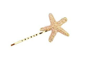 Set Of 1 Pink Starfish Bobby Pin - Hair Clip - Beach Hair - Nautical Accessory - Mermaid Hair - Cute Hair Pin - Hair Accessories