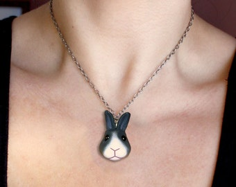 Custom Bunny Necklace & Pet Portrait