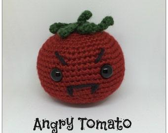Angry Amigurumi Tomato Plush Crochet Toy