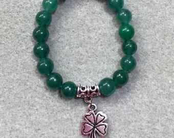 4-Leaf Clover or St Patrick's Day Bracelet, Girls