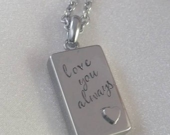 Cremation Urn Jewelry - Urn Necklace - Military Urn Jewelry - Necklace for Ashes - Ash Holder - Ashes Keepsake - Ashes Jewelry - Urn Holder