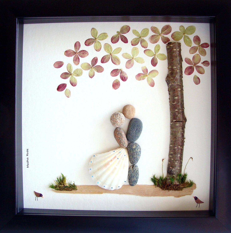Wedding Gift Pebble Art Unique Engagement Gift