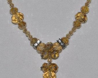 Necklace Citrine Crystal #477