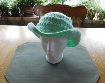 Hats, Crocheted hat, wide brim , Cowboy hat,sun hat,