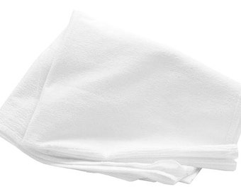 1 FLOUR SACK TOWEL 100% all Cotton Lint free Cleaning clean Polishing polish gourmet kitchen cloth Finish & Detail flatware glass metal