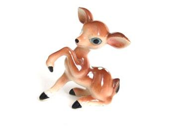 Japan Deer Figurine, Mid Century Home Decor, Vintage Fawn Figurine