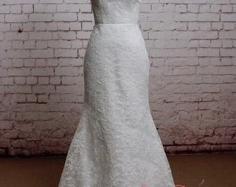 New Style Wedding Dress Mermaid Style Bridal Gown Classic Lace Wedding Gown Full Lace Skirt Dress