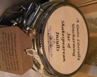 A Quite Literally Uncharming Jar of Shakespearean Insults