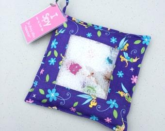 Purple Tinkerbell sensory I Spy Pouch