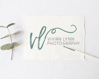 premade logo design · calligraphy swash · watermark logo · calligraphy design · photography logo · premade branding · small business logo
