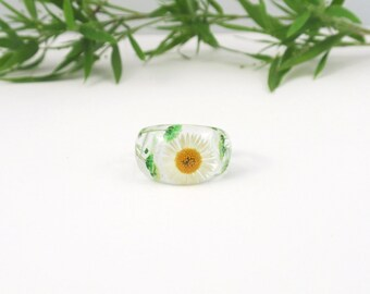 Nature ring, Pressed flower jewelry, Real flower Resin ring, Resin ring,  Flower in resin, Botanical ring, Eco resin ring, Jewellery