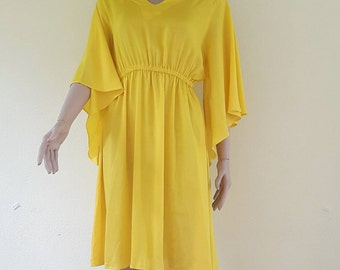 Yellow maxi dress | Etsy