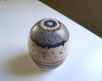 Lidded Stoneware jar, Mid Century Modern handcrafted by HC Denmark perhaps Helge Christoffersen