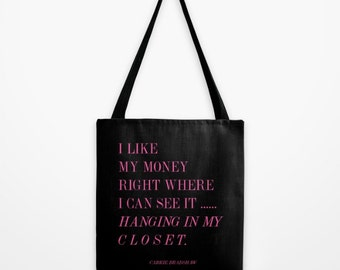 Fashion Quote 18x18 Tote Bag - Shopping Quote - Market Tote - Gifts for Her - Gifts for Women - Gifts for Friends - Gifts for Sisters