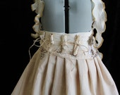 Steampunk Woodland Mini Bustle Skirt with Hot Air Balloon & Antique Scrolls Custom Size