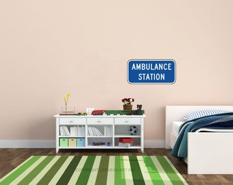 Ambulance Decal - EMS Decal - EMT Decal - Paramdeic Decal - Paramedic Baby - Ambulance Kids - EMS Gifts - emt Gifts - Ambulance Nursery