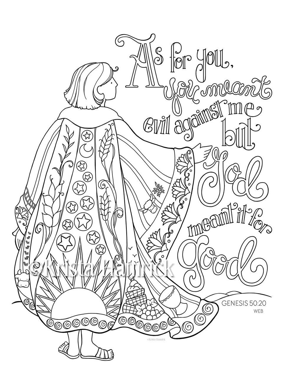 joseph u0027s coat of many colors coloring page 8 5x11 bible