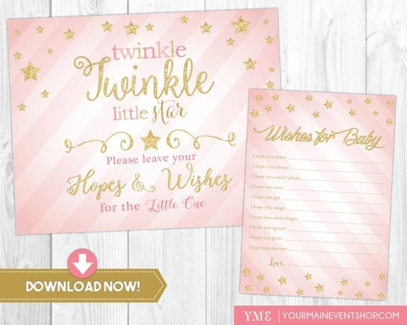 Twinkle Twinkle Little Star Wishes For Baby Card Well Wishes