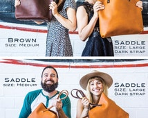 Leather Tote SALE  - Leather Bag Handmade in Portland, Top-Grain Cowhide- Award Winning Leather Tote Portland Leather Goods